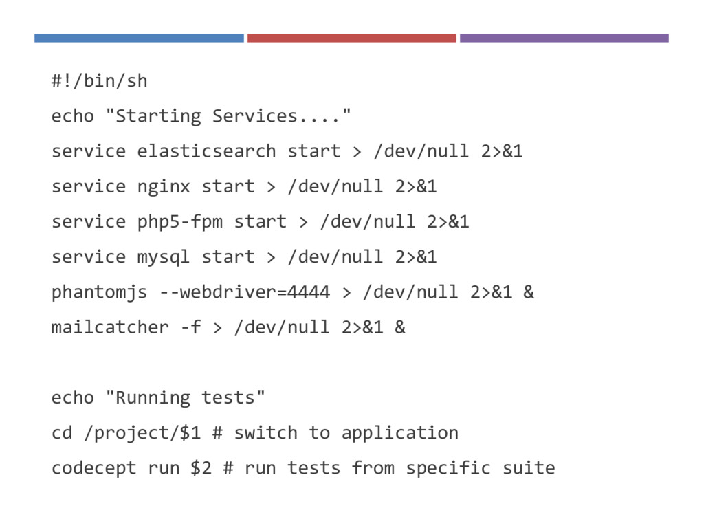 "#!/bin/sh echo ""Starting Services...."" service ..."