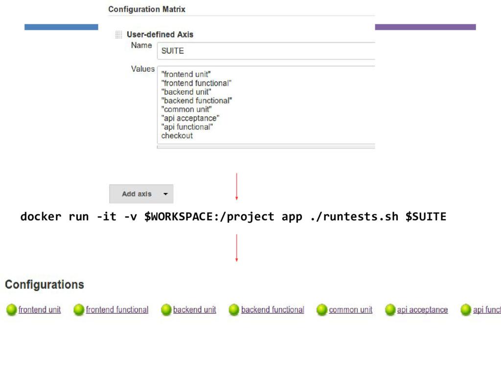 docker run -it -v $WORKSPACE:/project app ./run...