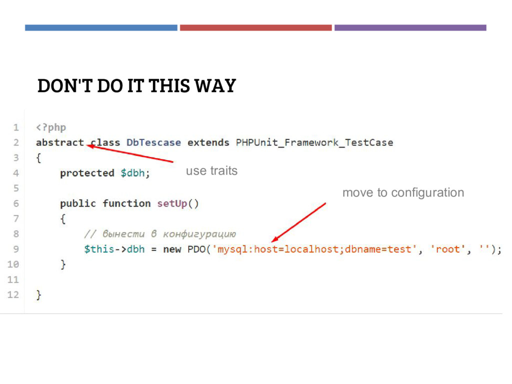 DON'T DO IT THIS WAY move to configuration use ...