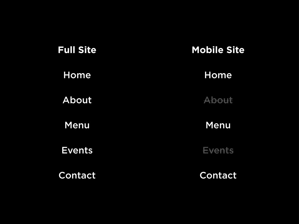 Full Site Home About Menu Events Contact Mobile...
