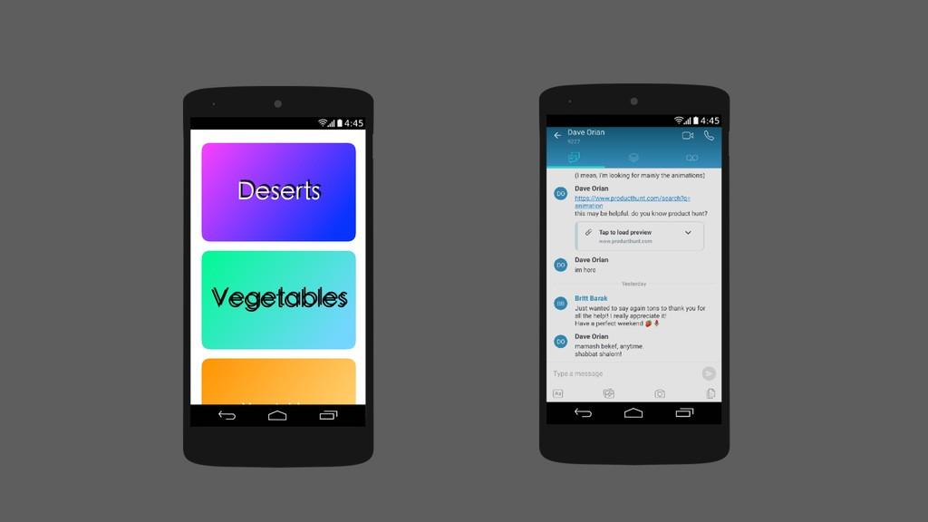Vegetables Deserts Vegetables