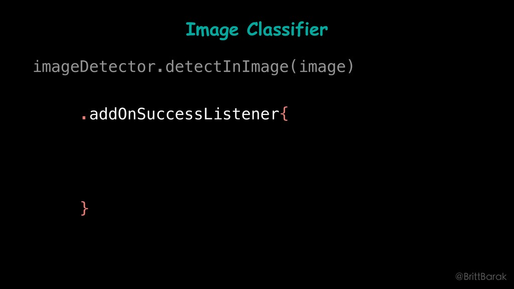 Image Classifier imageDetector.detectInImage(im...
