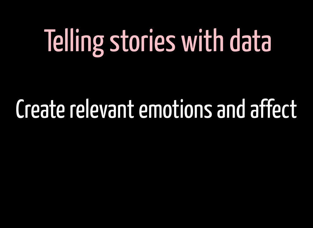 Telling stories with data Create relevant emoti...