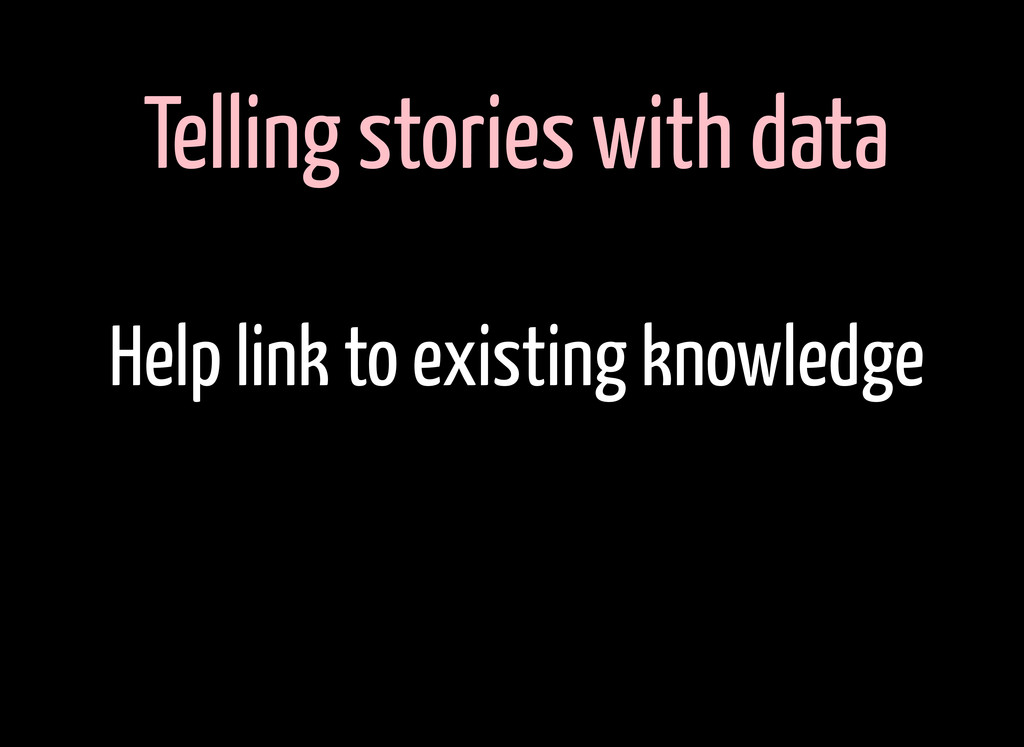 Telling stories with data Help link to existing...