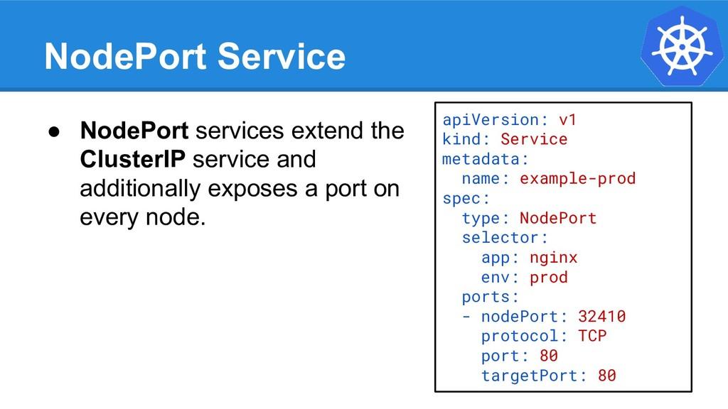 NodePort Service apiVersion: v1 kind: Service m...