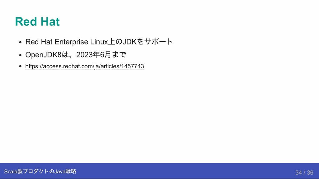 Red Hat Red Hat Enterprise Linux 上のJDK をサポート Op...
