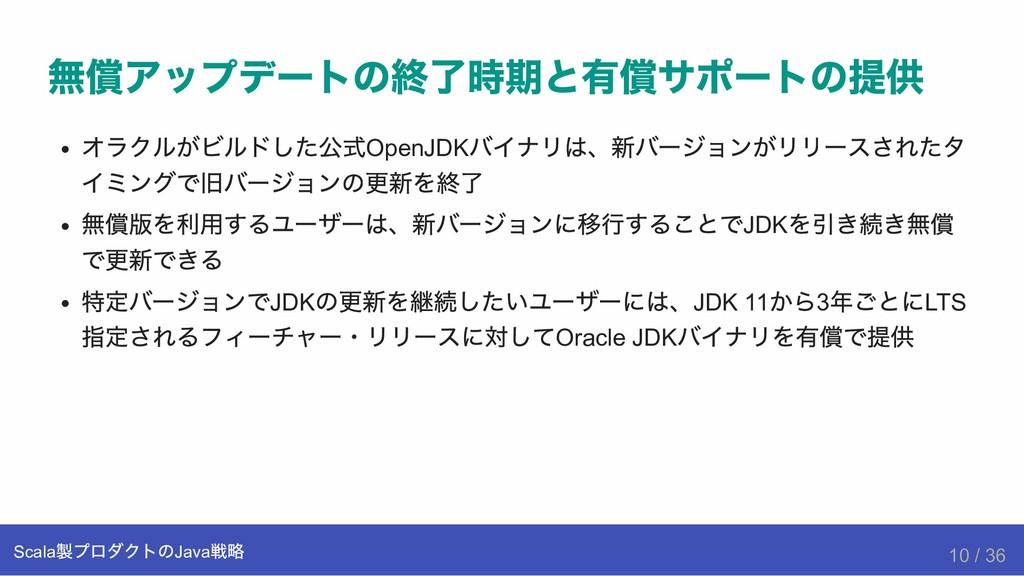 無償アップデートの終了時期と有償サポートの提供 オラクルがビルドした公式OpenJDK バイナ...