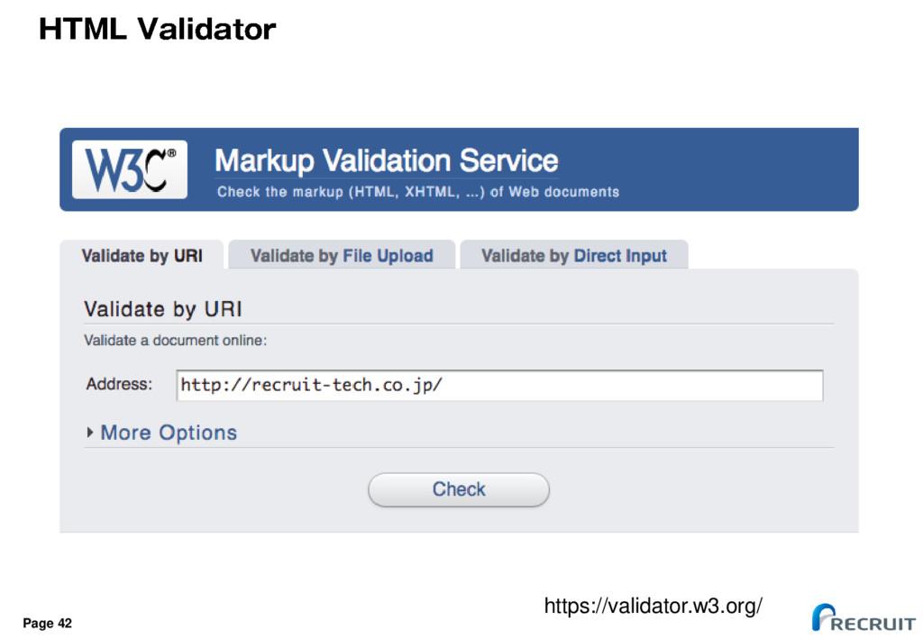 Page 42 https://validator.w3.org/
