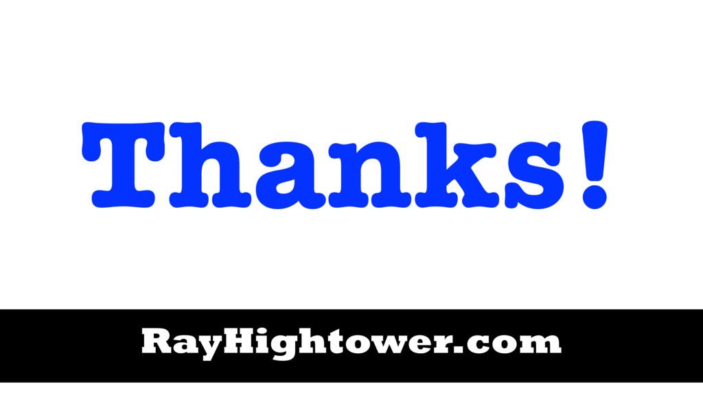 Thanks! RayHightower.com