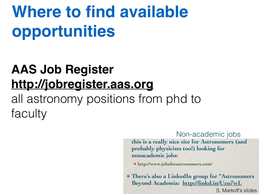 Where to find available opportunities AAS Job Re...