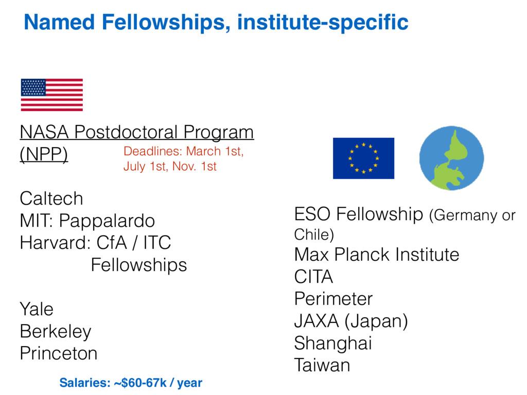 Named Fellowships, institute-specific NASA Postd...