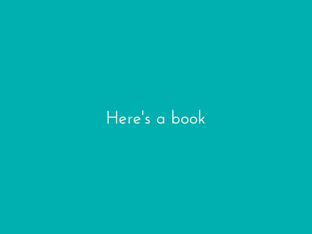 Here's a book