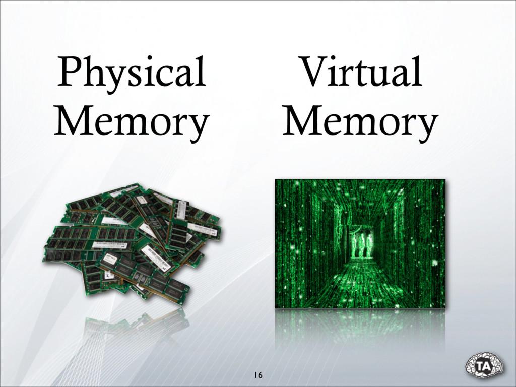 16 Physical Memory Virtual Memory