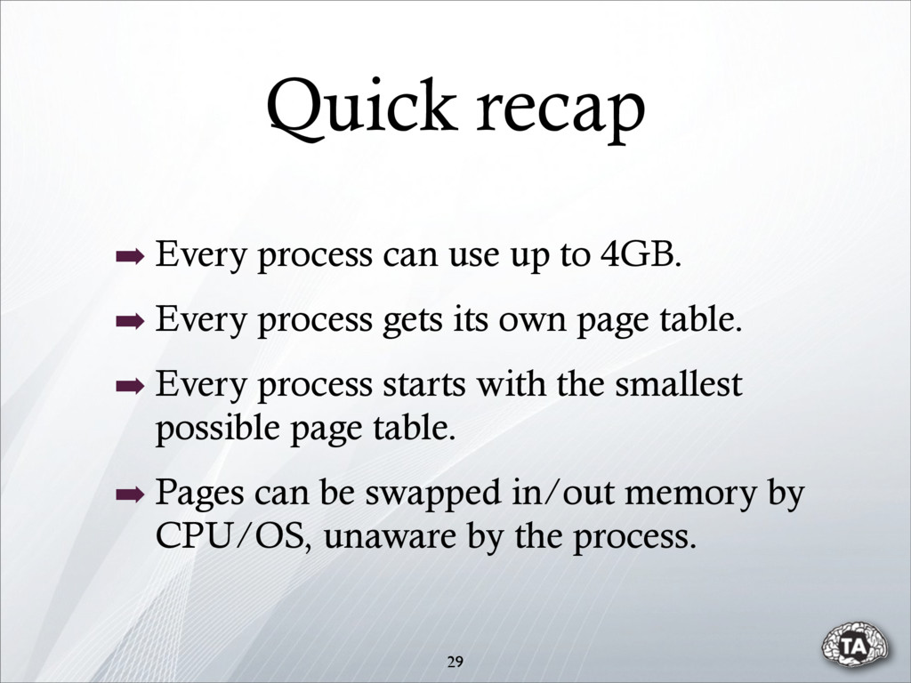 Quick recap ➡ Every process can use up to 4GB. ...