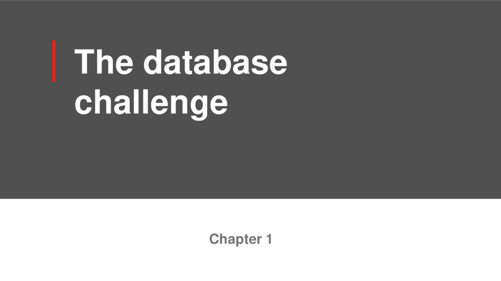 The database challenge Chapter 1