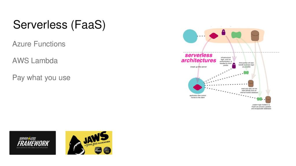 Serverless (FaaS) Azure Functions AWS Lambda Pa...