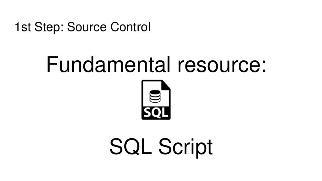 1st Step: Source Control Fundamental resource: ...