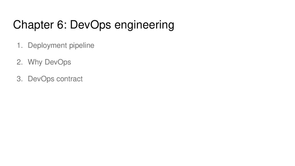 Chapter 6: DevOps engineering 1. Deployment pip...