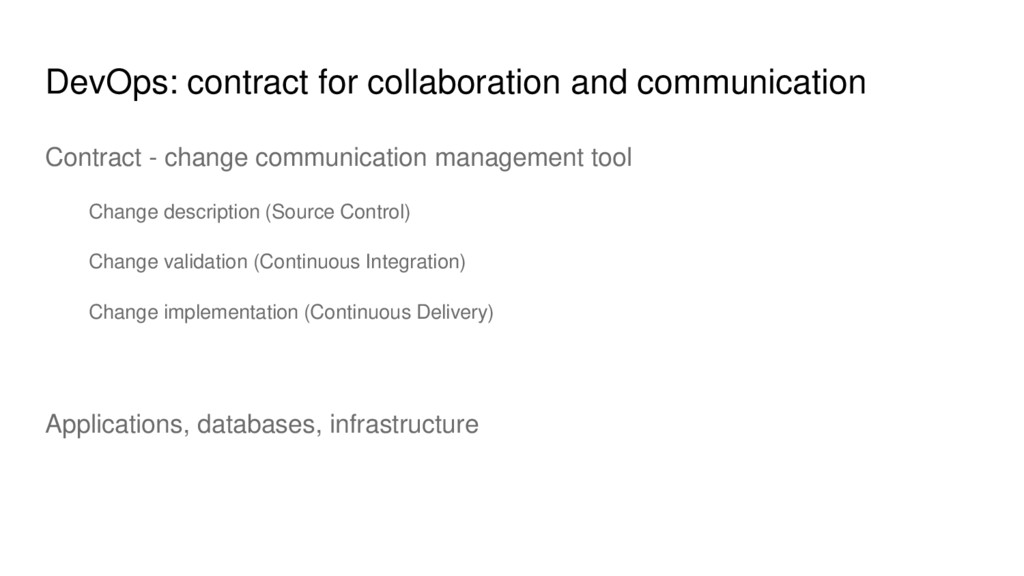 DevOps: contract for collaboration and communic...