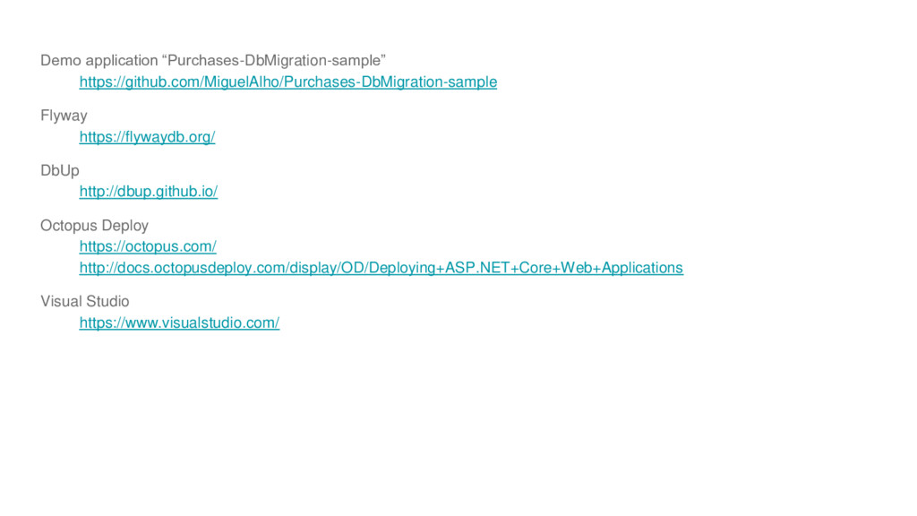 """Demo application """"Purchases-DbMigration-sample""""..."""