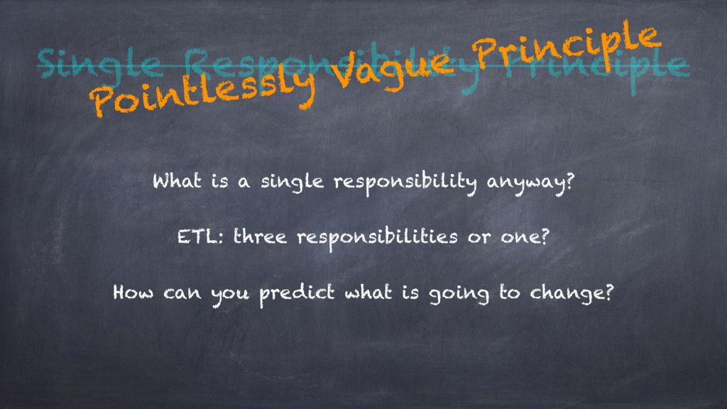 Single Responsibility Principle What is a singl...