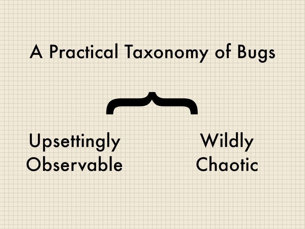 A Practical Taxonomy of Bugs Upsettingly Observ...