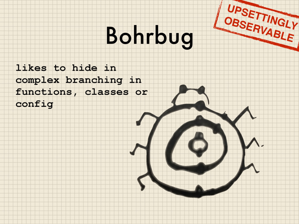 Bohrbug likes to hide in complex branching in f...