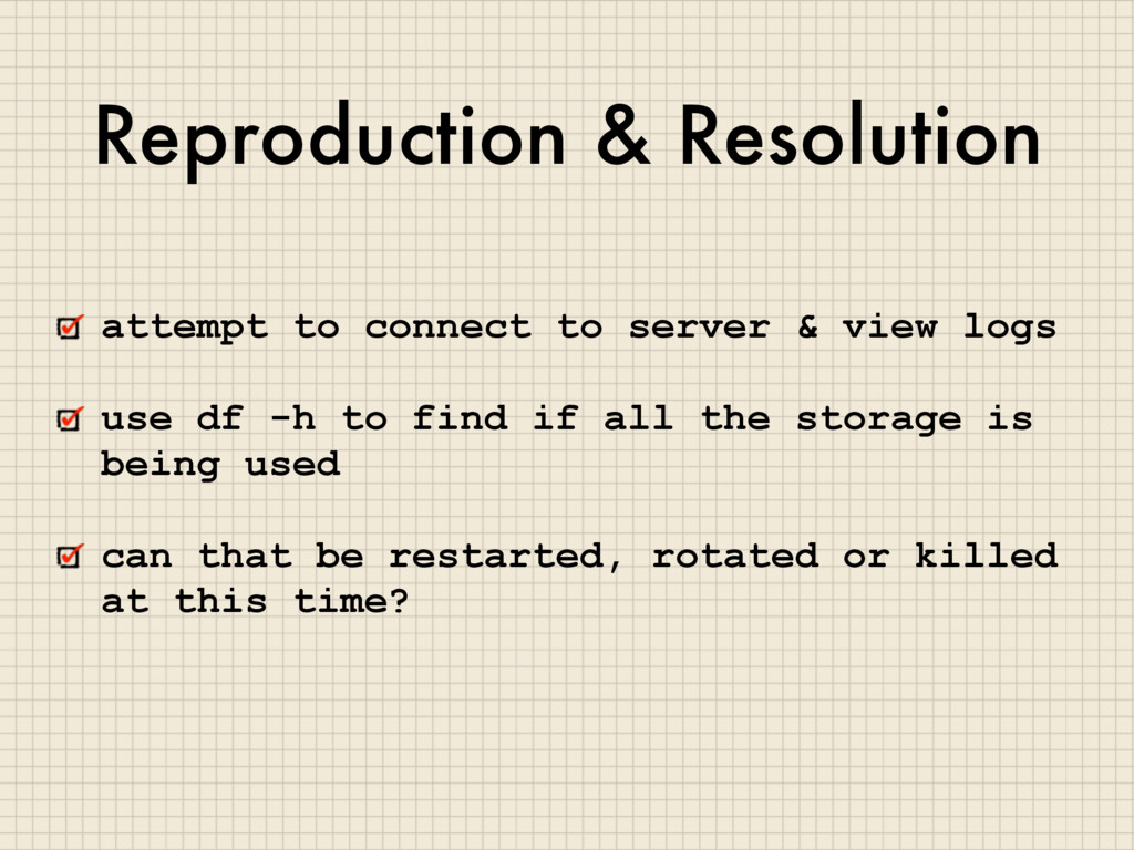 Reproduction & Resolution attempt to connect to...