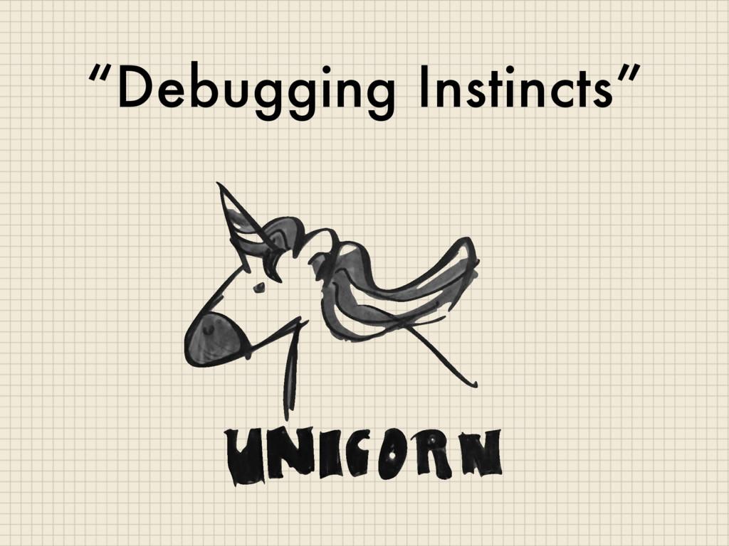 """Debugging Instincts"""