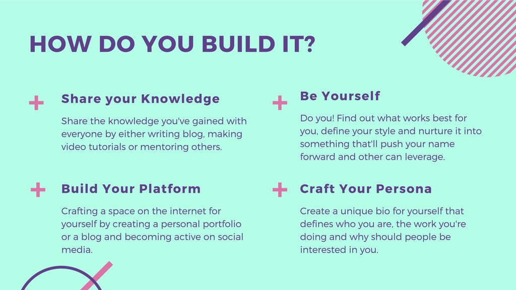 HOW DO YOU BUILD IT? Craft Your Persona Create ...