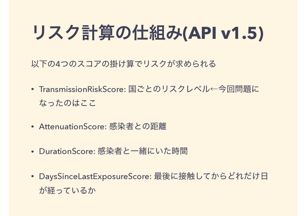 ϦεΫܭͷΈ(API v1.5) ҎԼͷ4ͭͷείΞͷֻ͚ͰϦεΫ͕ٻΊΒΕΔ • T...