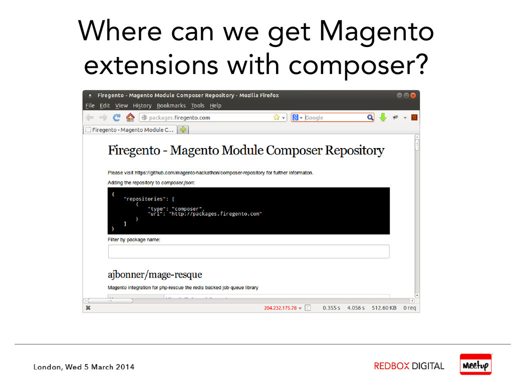 Where can we get Magento extensions with compos...