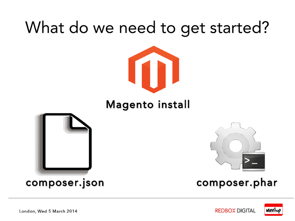 What do we need to get started? composer.json c...