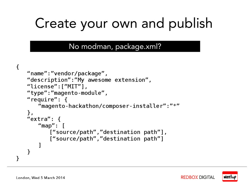 """Create your own and publish { """"name"""":""""vendor/pa..."""