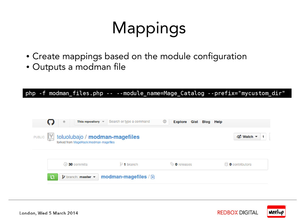 Mappings ● Create mappings based on the module ...