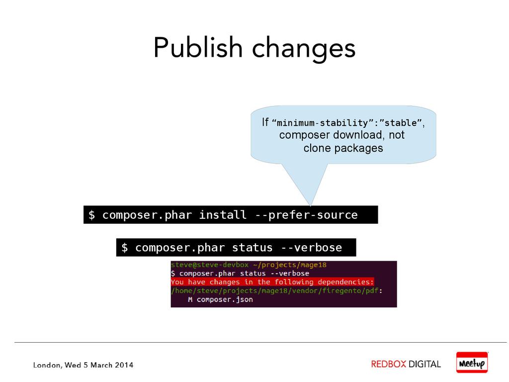 Publish changes $ composer.phar install --prefe...