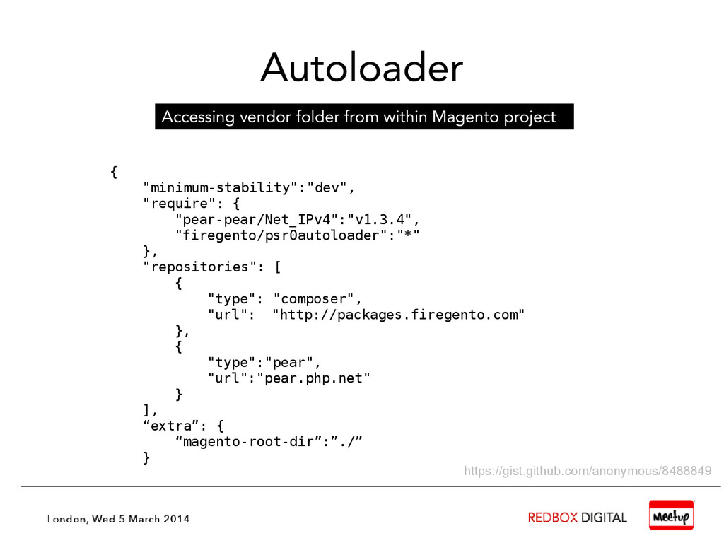 Autoloader Accessing vendor folder from within ...