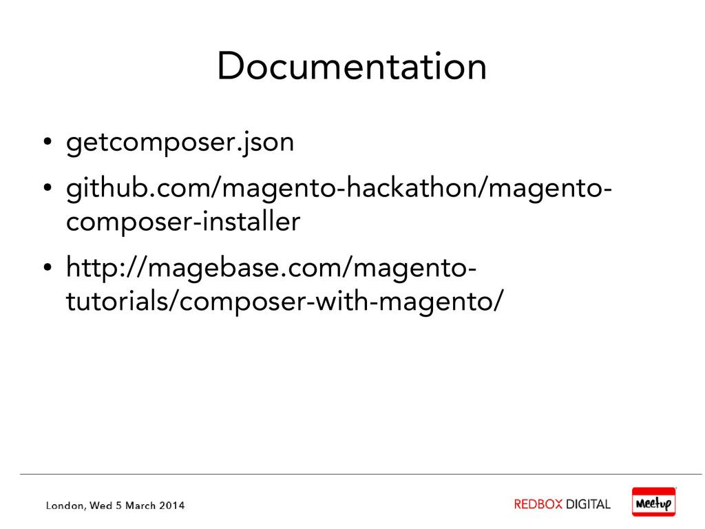 Documentation ● getcomposer.json ● github.com/m...