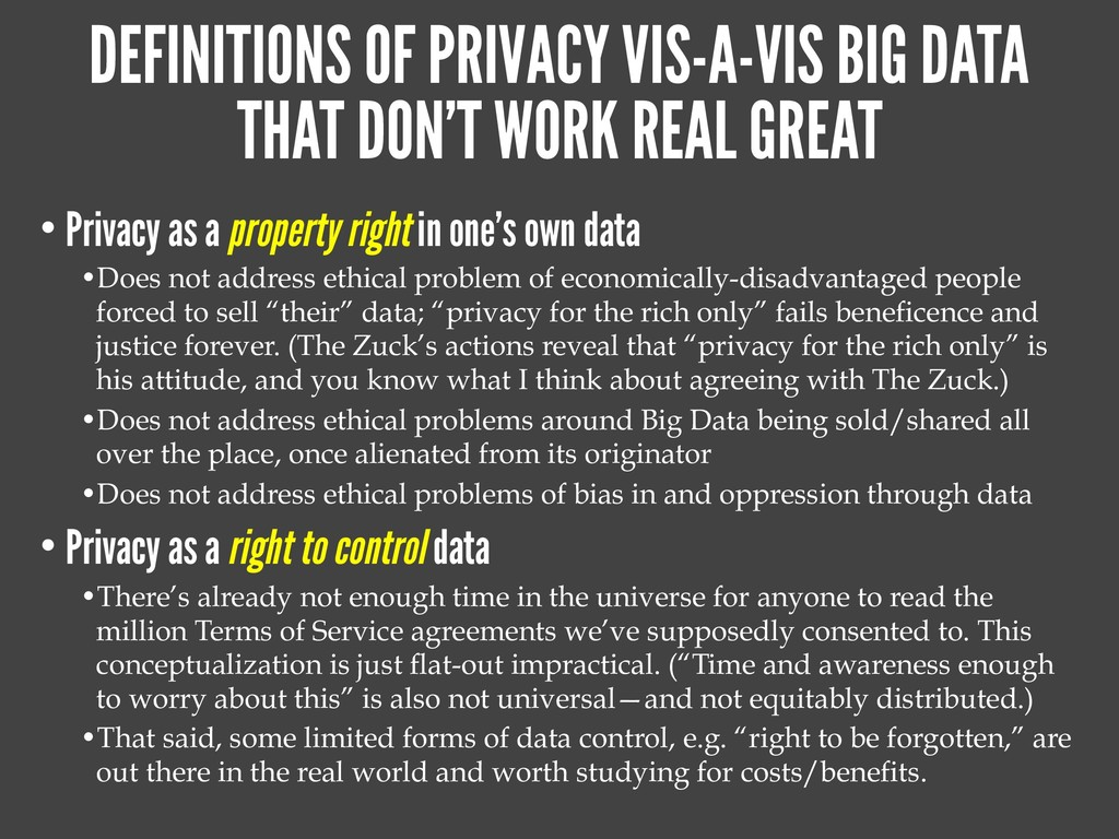 DEFINITIONS OF PRIVACY VIS-A-VIS BIG DATA THAT ...