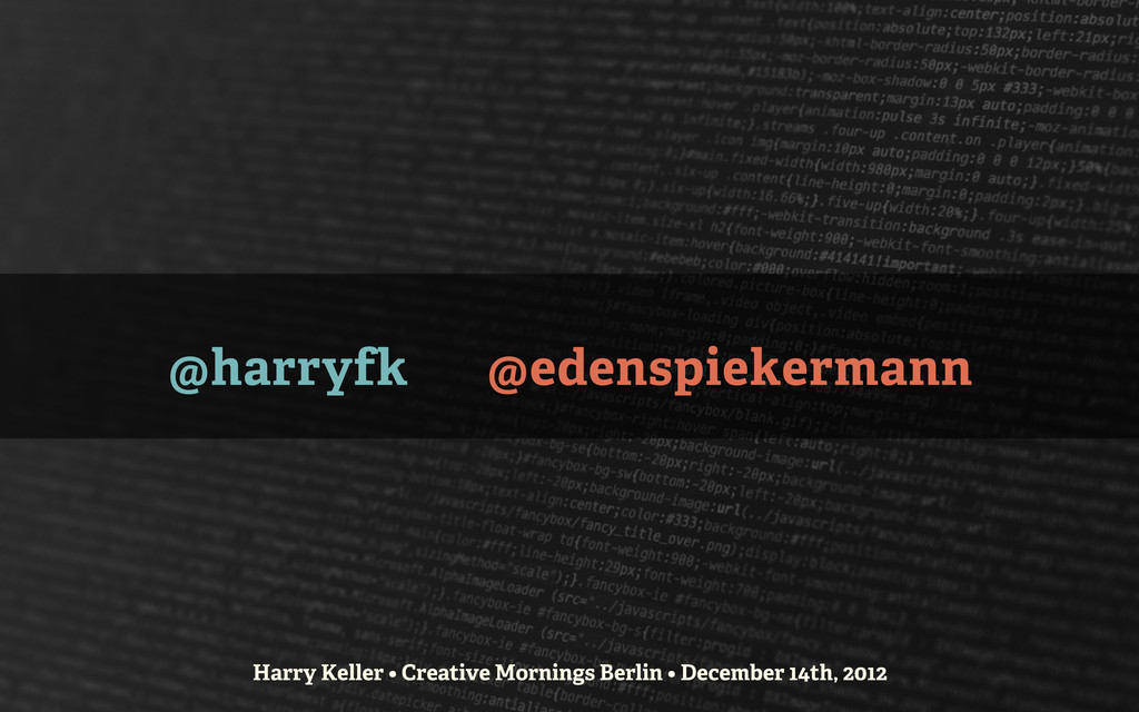 @harryfk @edenspiekermann Harry Keller • Creati...
