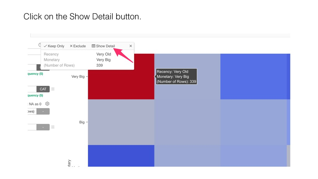 Click on the Show Detail button.