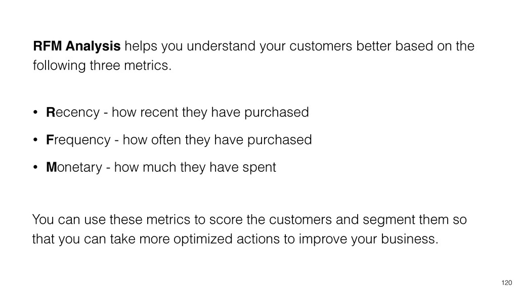 120 RFM Analysis helps you understand your cust...