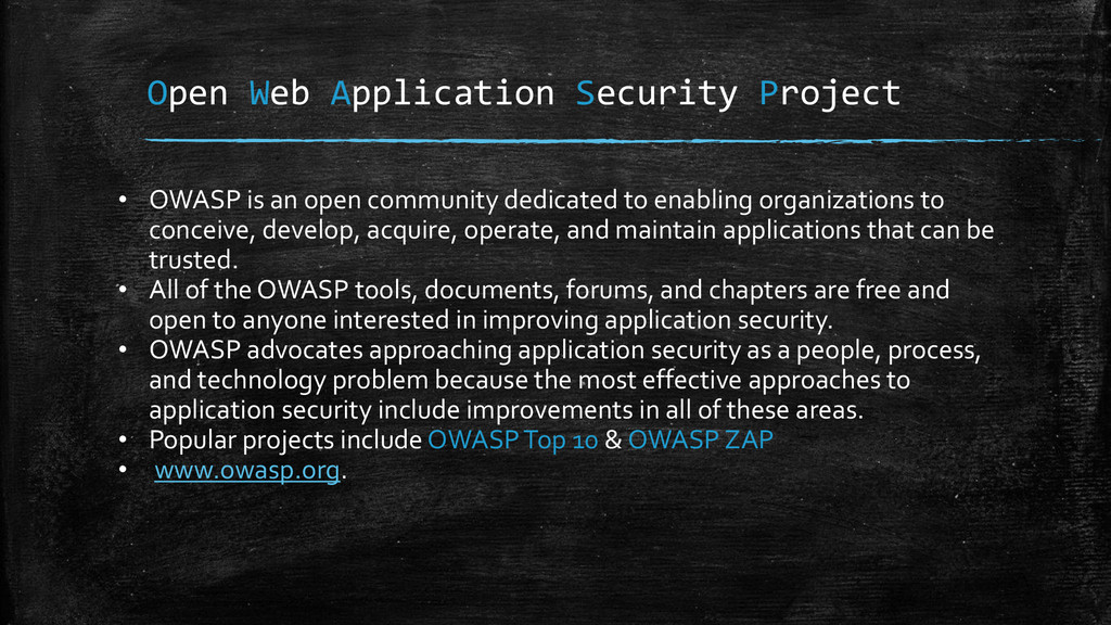 Open Web Application Security Project • OWASP i...