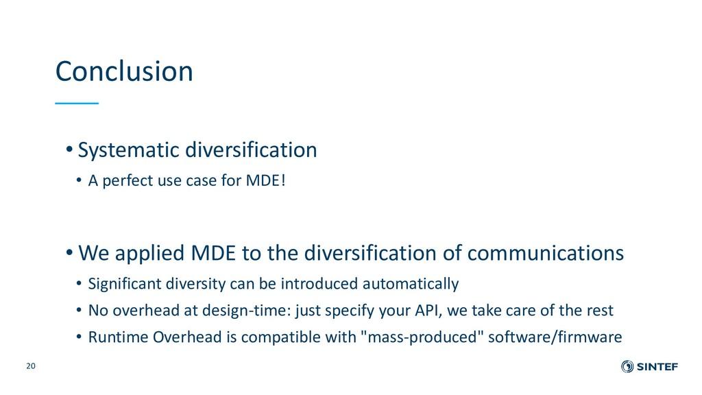 Conclusion • Systematic diversification • A per...