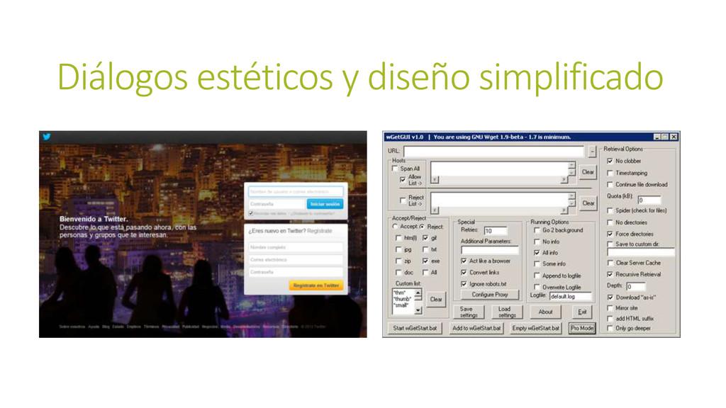 Diálogos estéticos y diseño simplificado