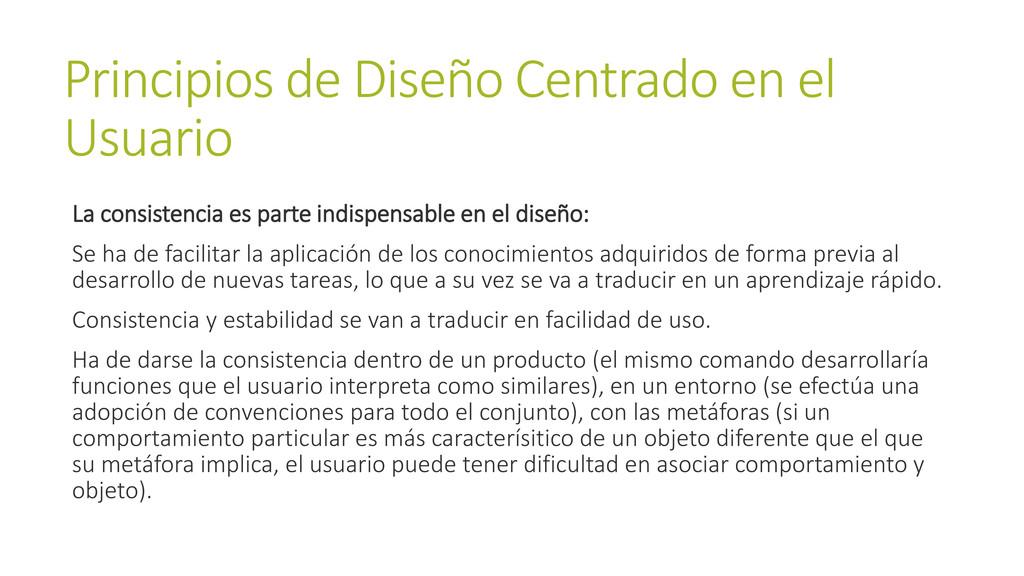 Principios de Diseño Centrado en el Usuario La ...