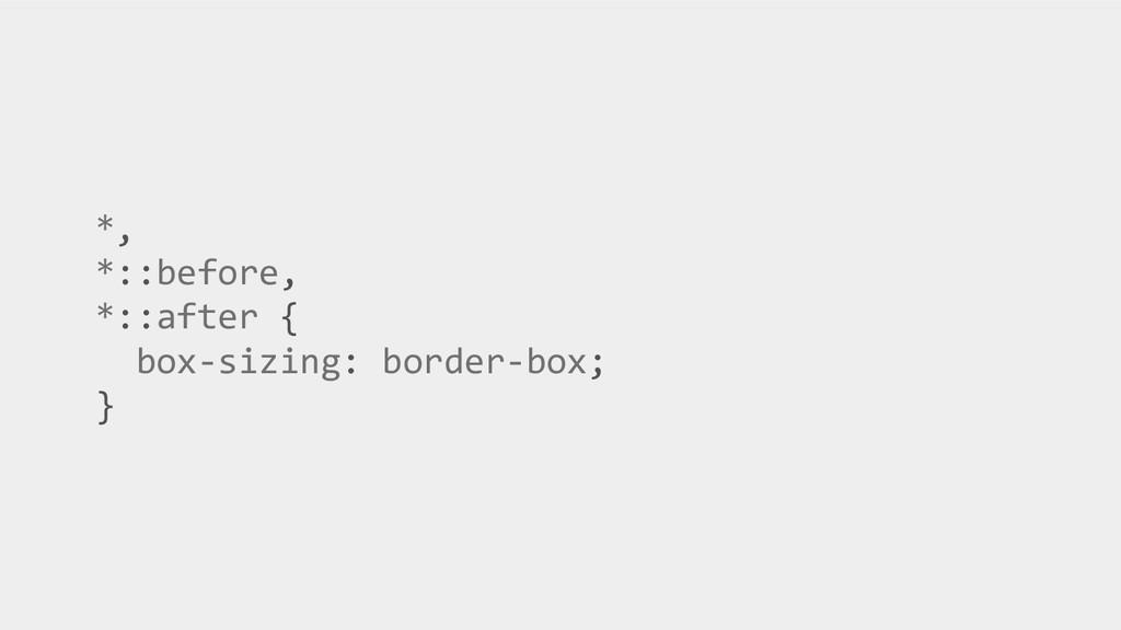 *, *::before, *::after { box-sizing: border-box...