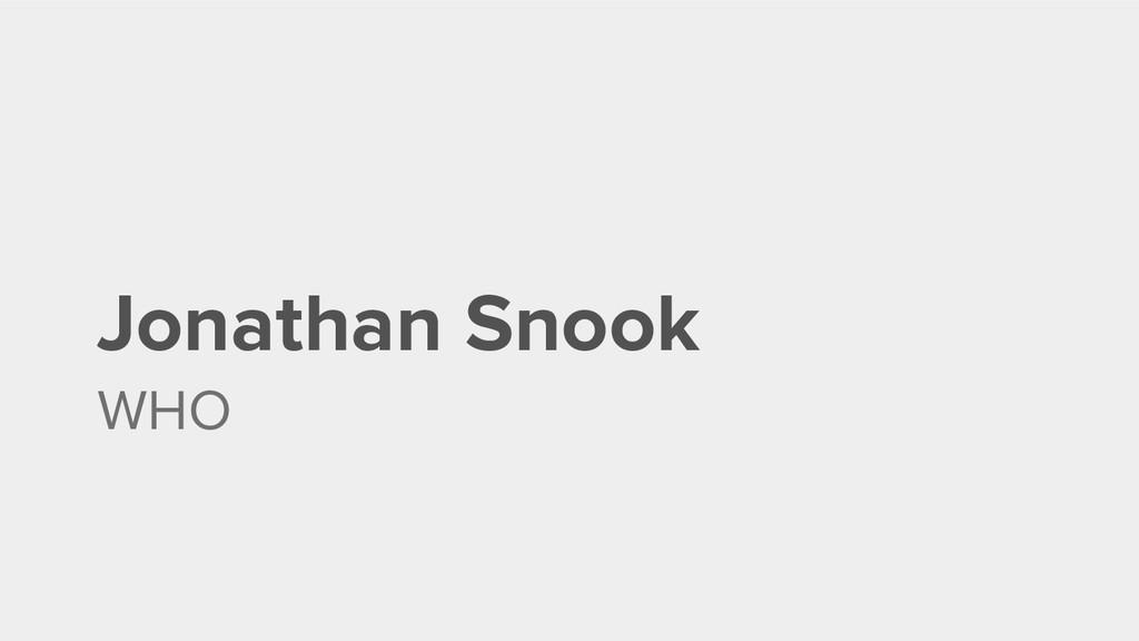 Jonathan Snook WHO