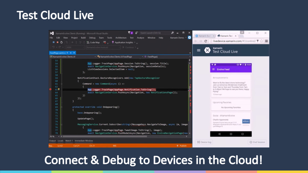 Test Cloud Live Connect & Debug to Devices in t...