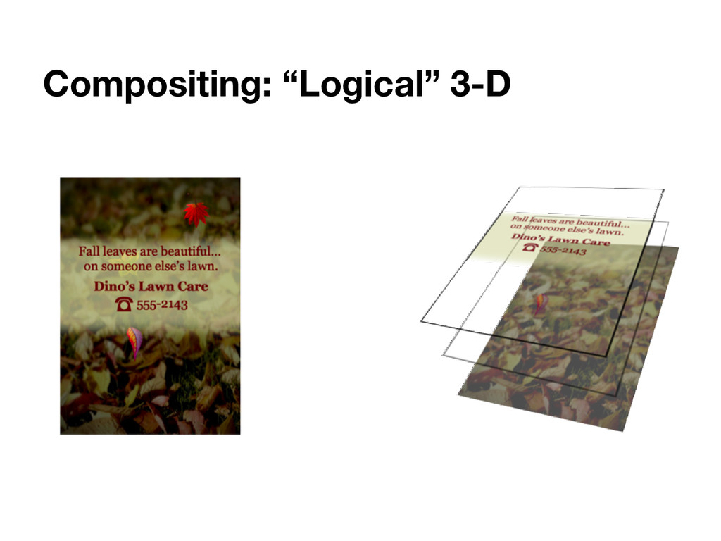 "Compositing: ""Logical"" 3-D"